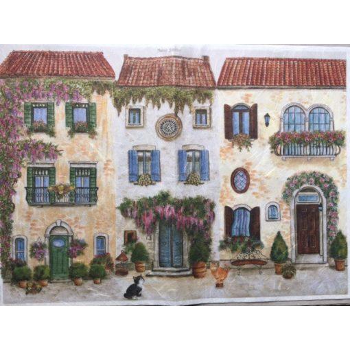Rizspapír 35x50 házak
