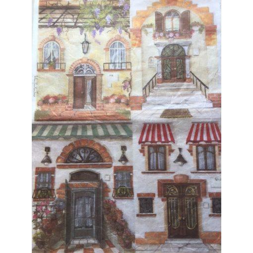 Rizspapír 35x50 házak 2.