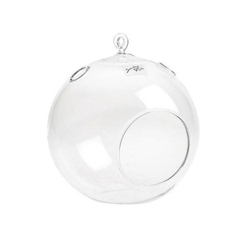 Üveggömb, nyitott 18 cm