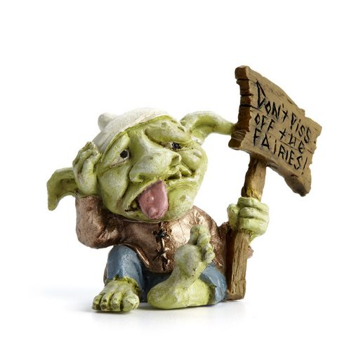 Troll táblával