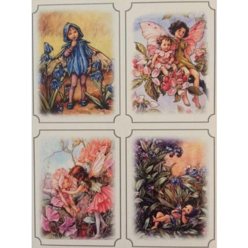 Virágtündér képeslapok/ablakfólia