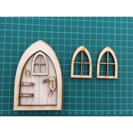 Tündér ajtó ablakokkal