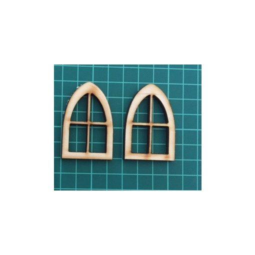 Csúcsos ablakok (2 db)