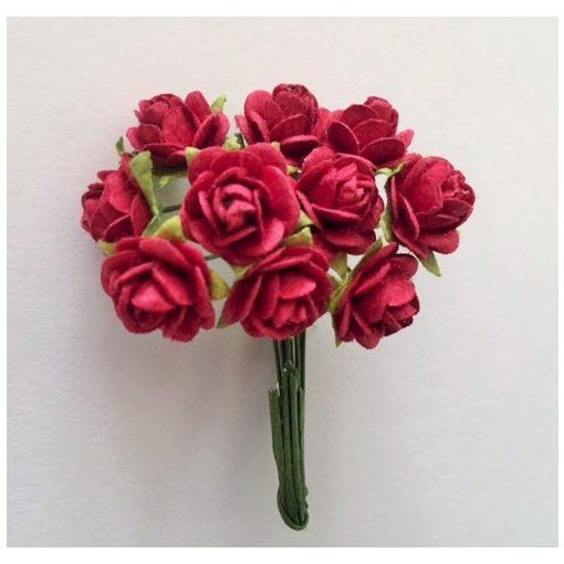 Papírvirág, rózsa, bordó
