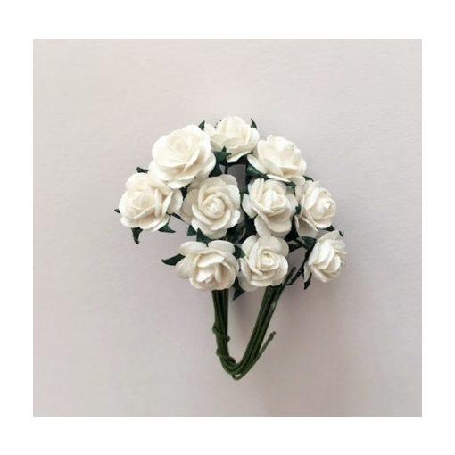 Papírvirág, rózsa, fehér