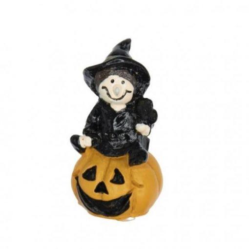 Halloween tök boszorkánnyal