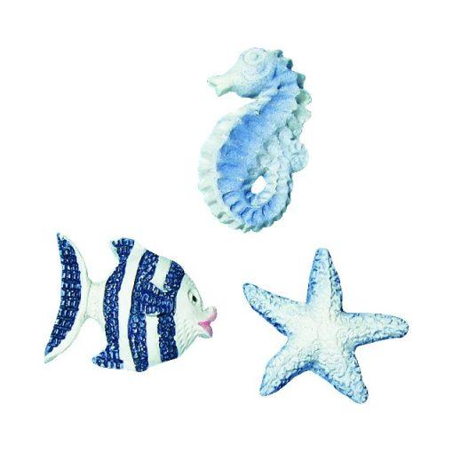 Poliresin dísz, tengeri állatok