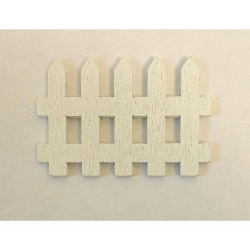 Fa kerítés fehér 5 x 3,5 cm