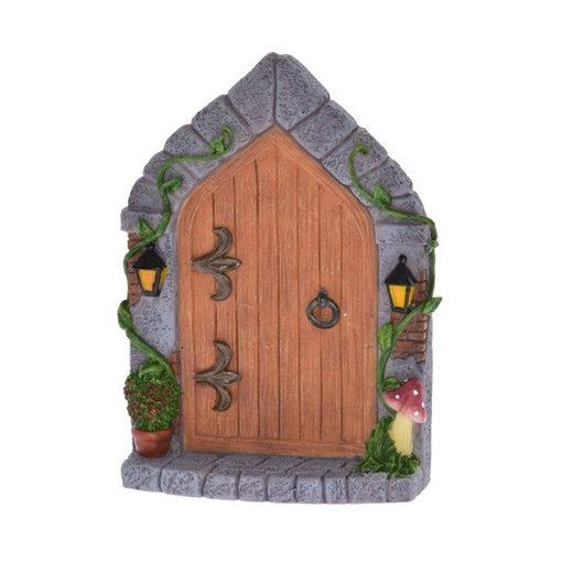Tündér ajtó gombával