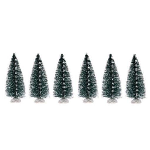 Fenyőfa műanyag 10 cm 6 db