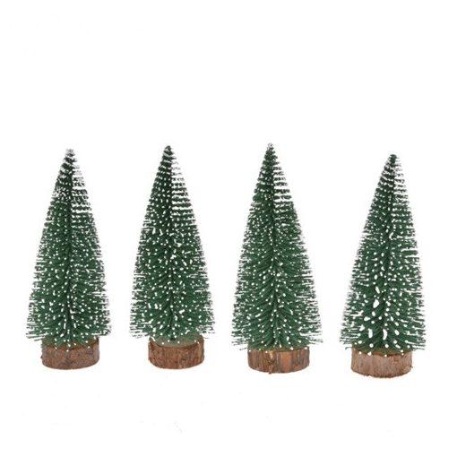 Fenyőfa havas 10 cm 4 db