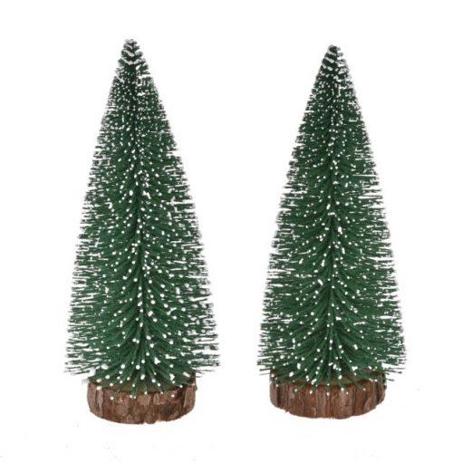 Fenyőfa havas 20 cm 2 db