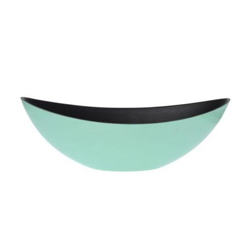 Csónak kaspó türkiz 39 cm