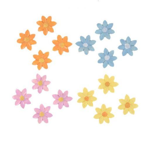 Virágok több színben 16 db